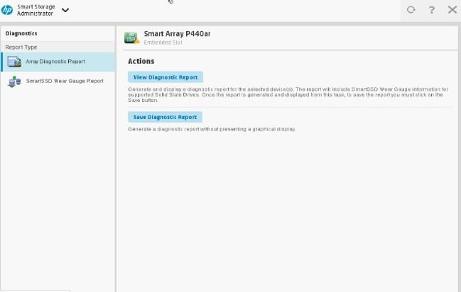 مدیریت ذخیره سازی هوشمند Array Diagnostic Report