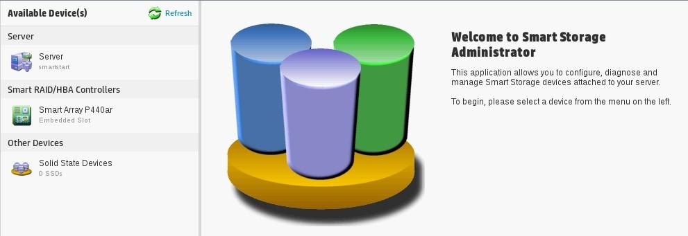 مدیریت ذخیره سازی هوشمند Smart Storage Administrator