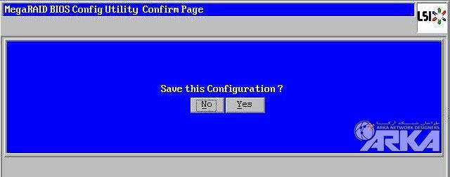 megaraid bios confirm page save