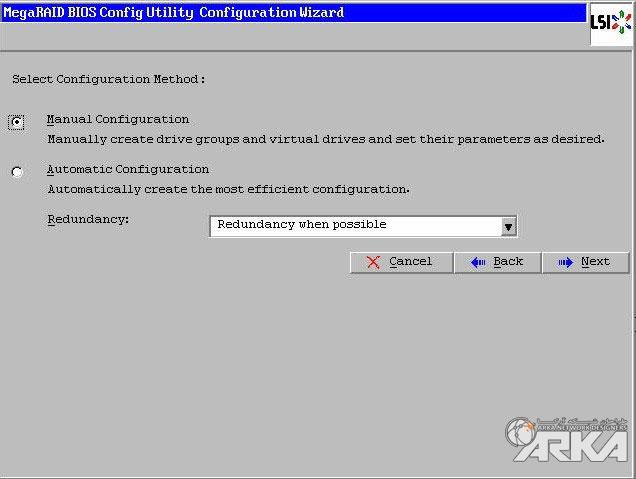 select configuration method