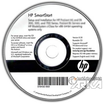 HP SmartStart CD x64 version 8.70